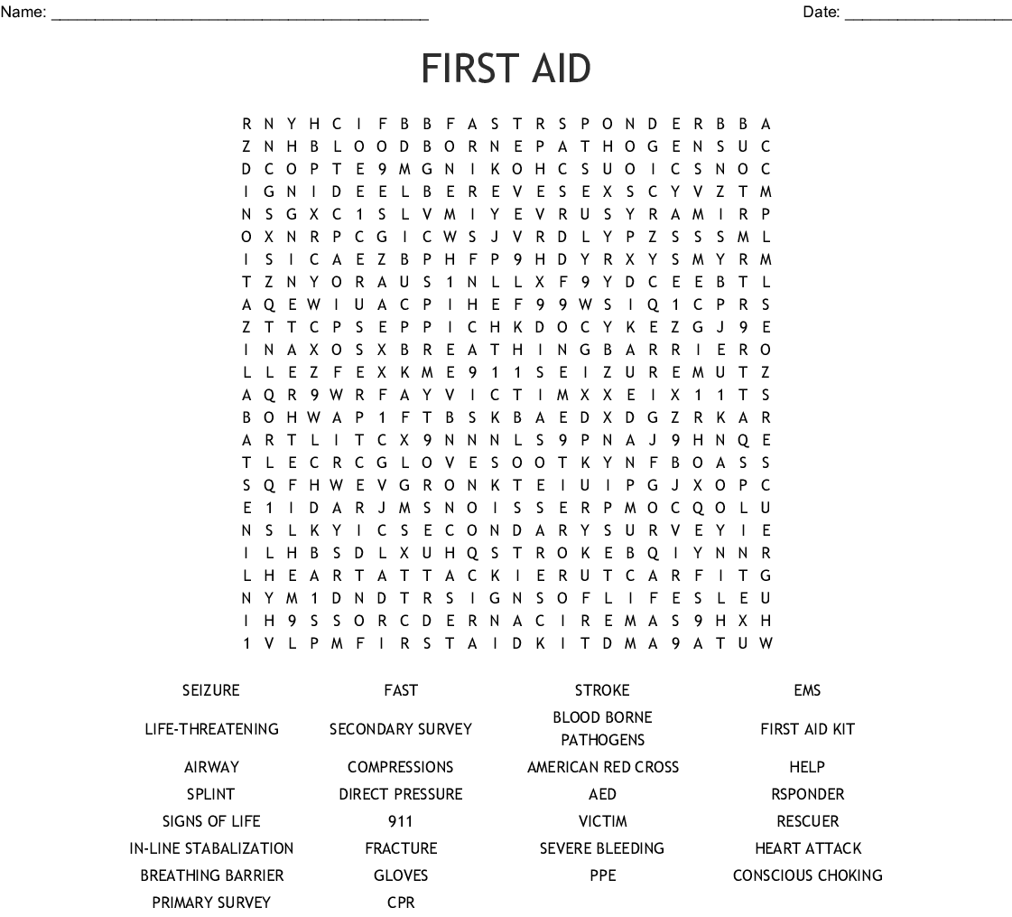 Cpr First Aid Bingo Cards