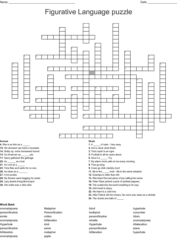 Onomatopoeia Worksheet Puzzles