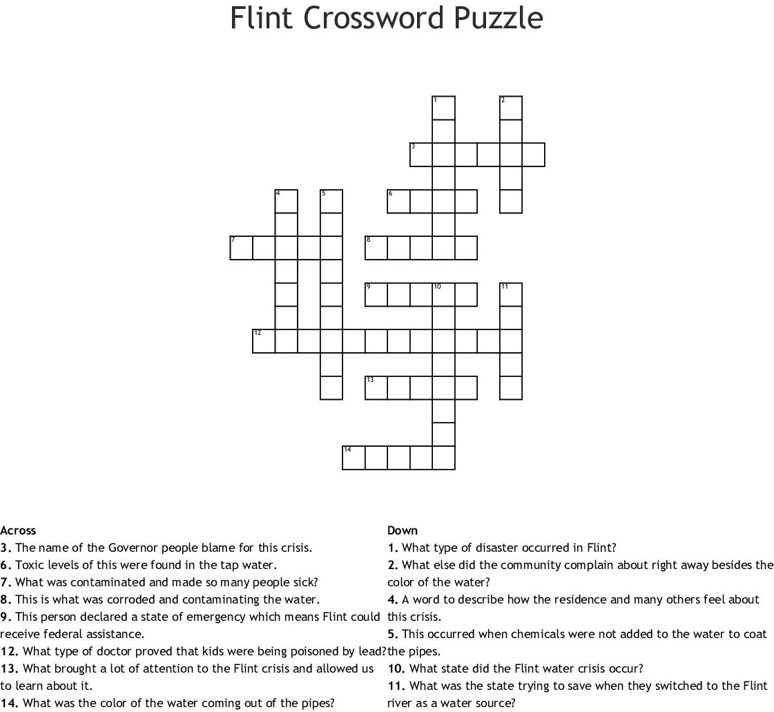 Flint Crossword Puzzle