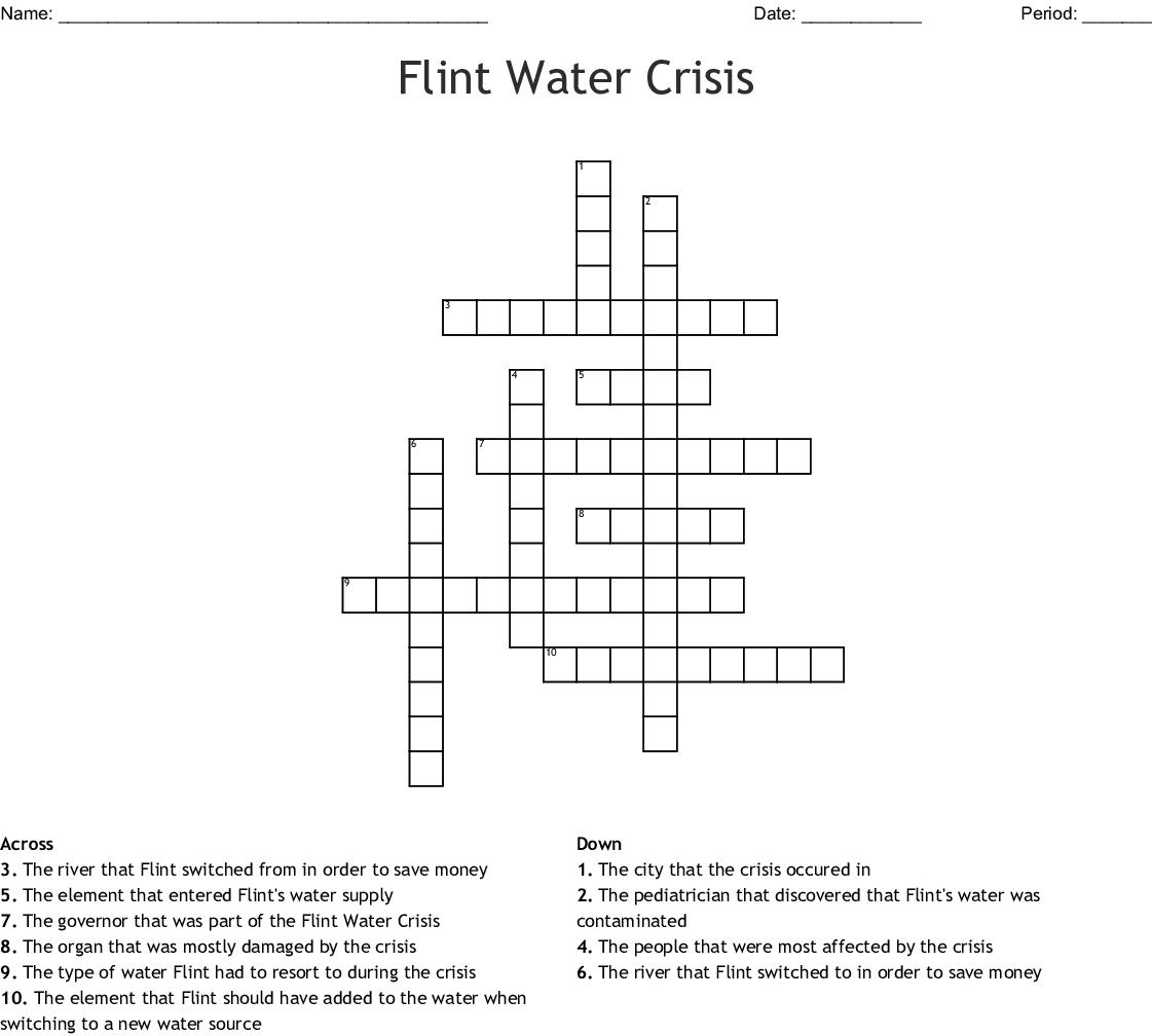 Water Crisis In Flint Michigan Crossword