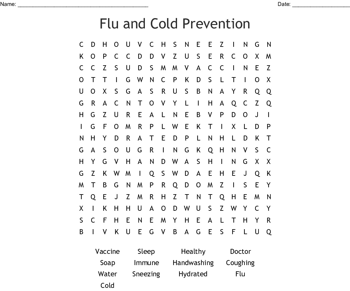 Cold And Flu Season Word Search