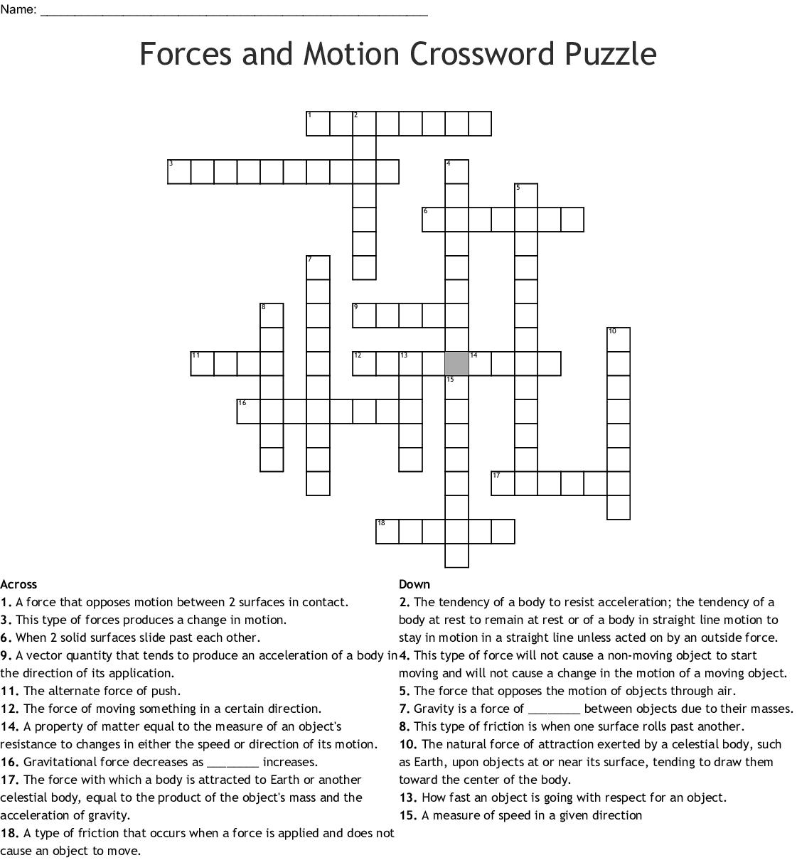 Body Double Crossword