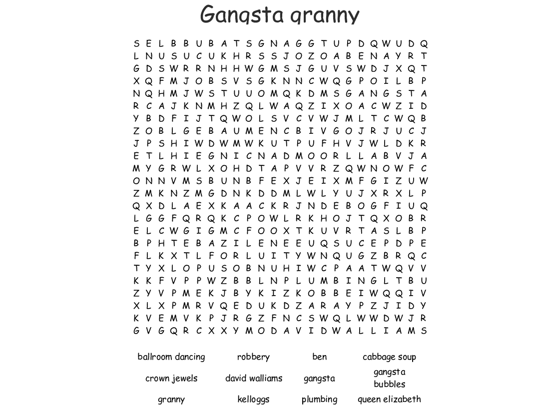 Everything Royal Word Search