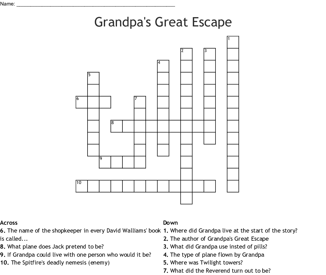 Gangsta Granny Word Search