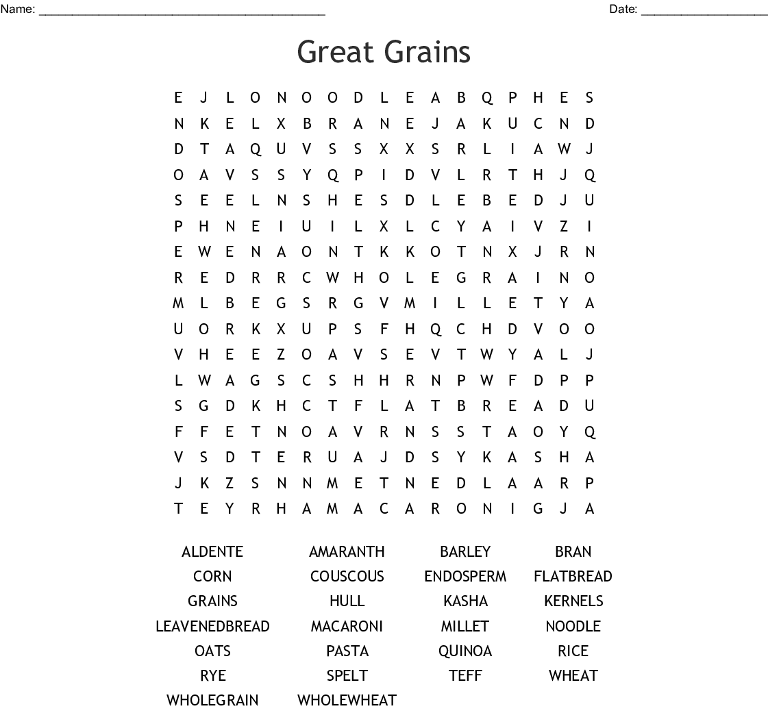 Grains Crossword