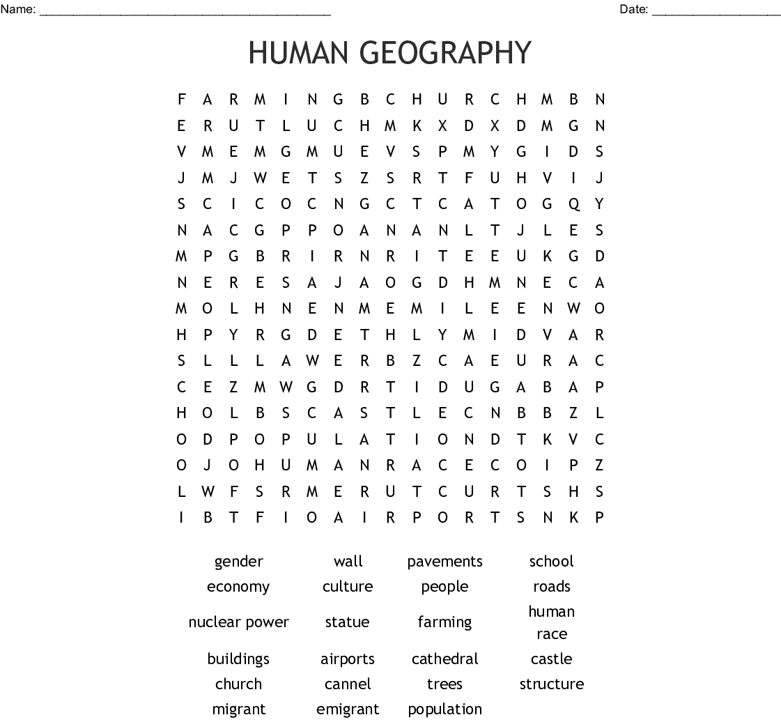Landmarks Of England Word Search