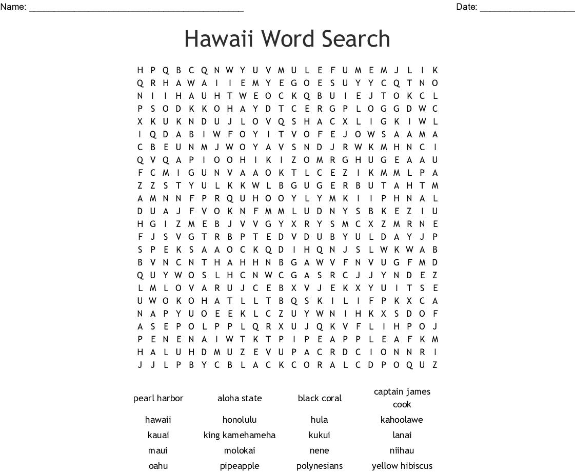 Hawaii Crossword