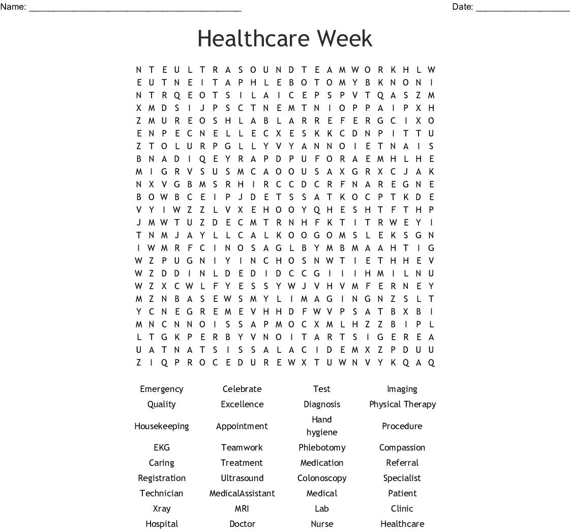 Healthcare Week Word Search