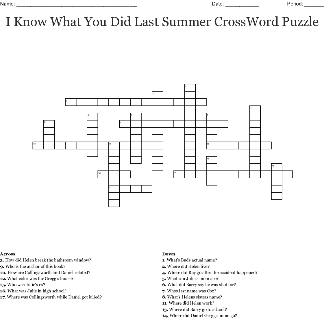 Lesson 22 Crossword