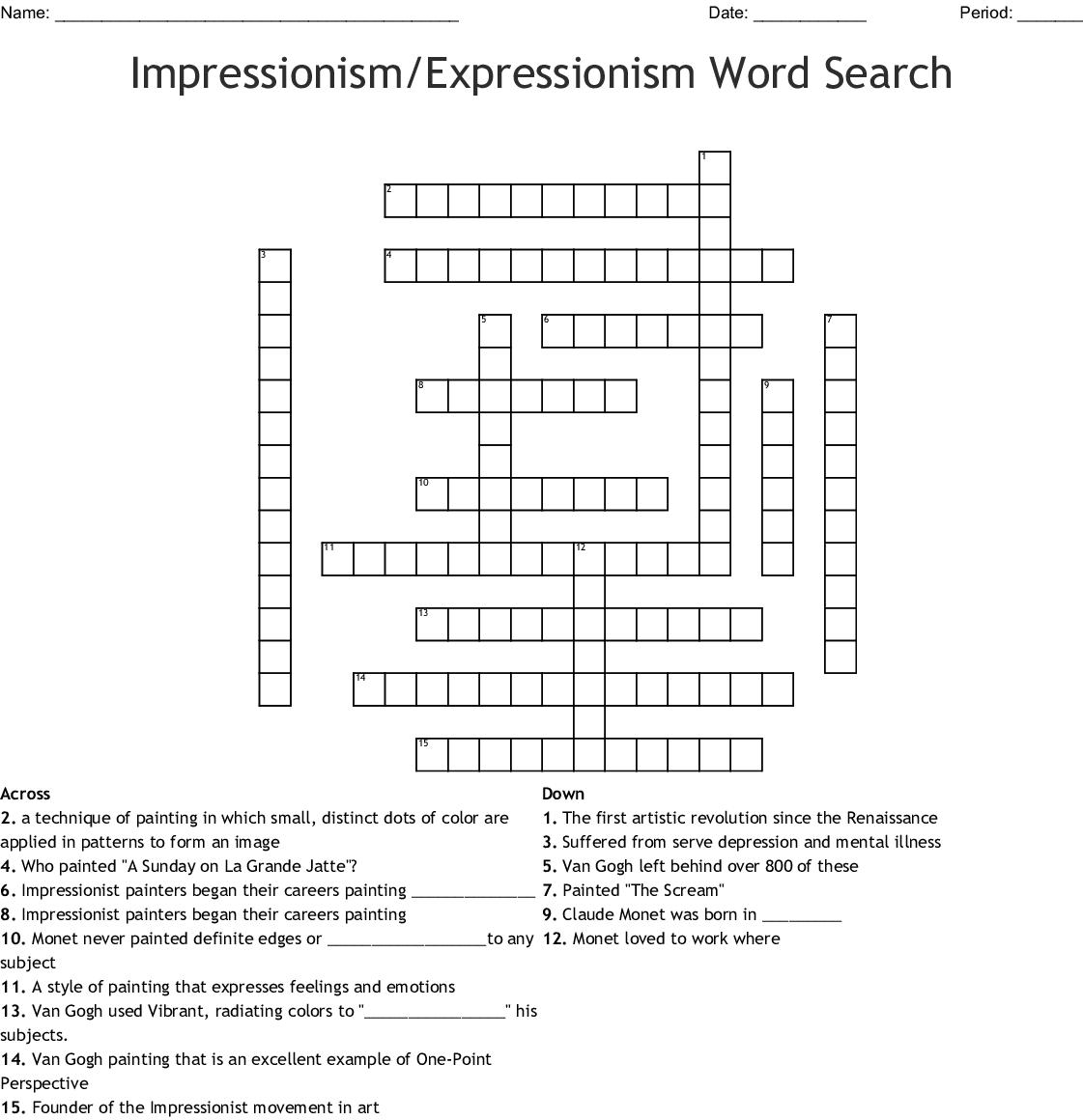 Grandma Moses Word Search