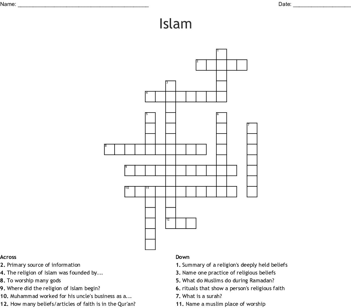 Islam Crossword
