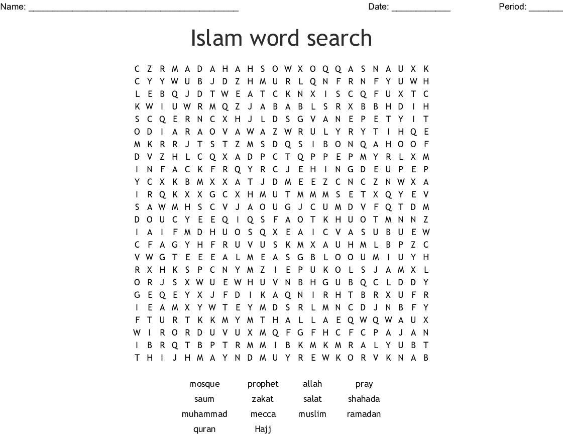 Pakistan Word Search