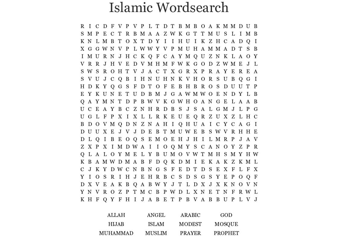 Islamic Wordsearch