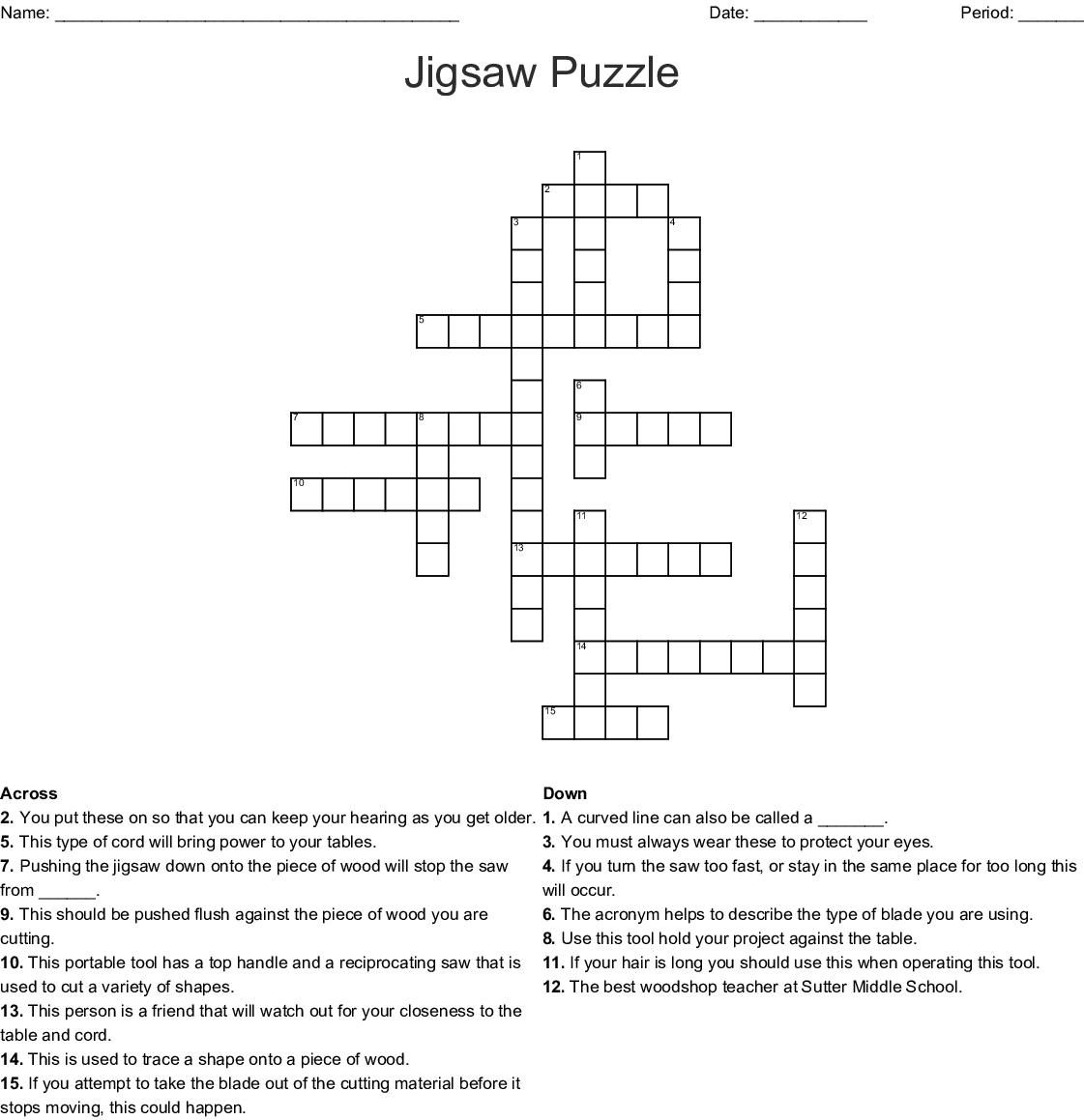 Jigsaw Puzzle Crossword