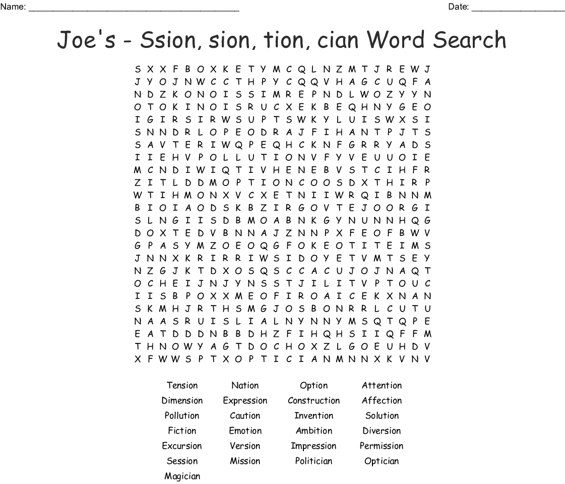 Consonant Digraph Sh Word Search