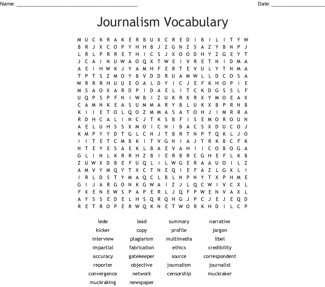 Journalism Interview Worksheet