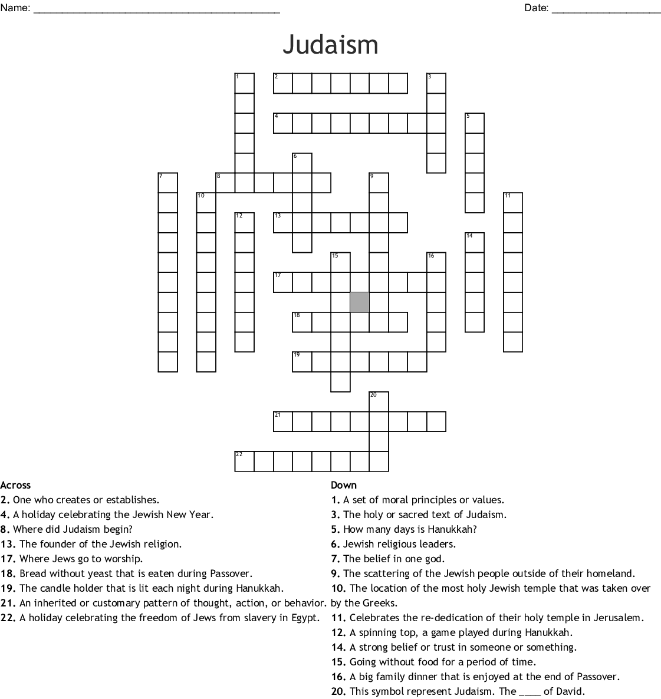 The Devil S Arithmetic Crossword