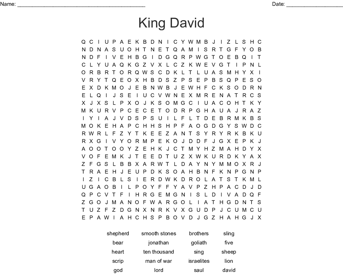David The King Word Search