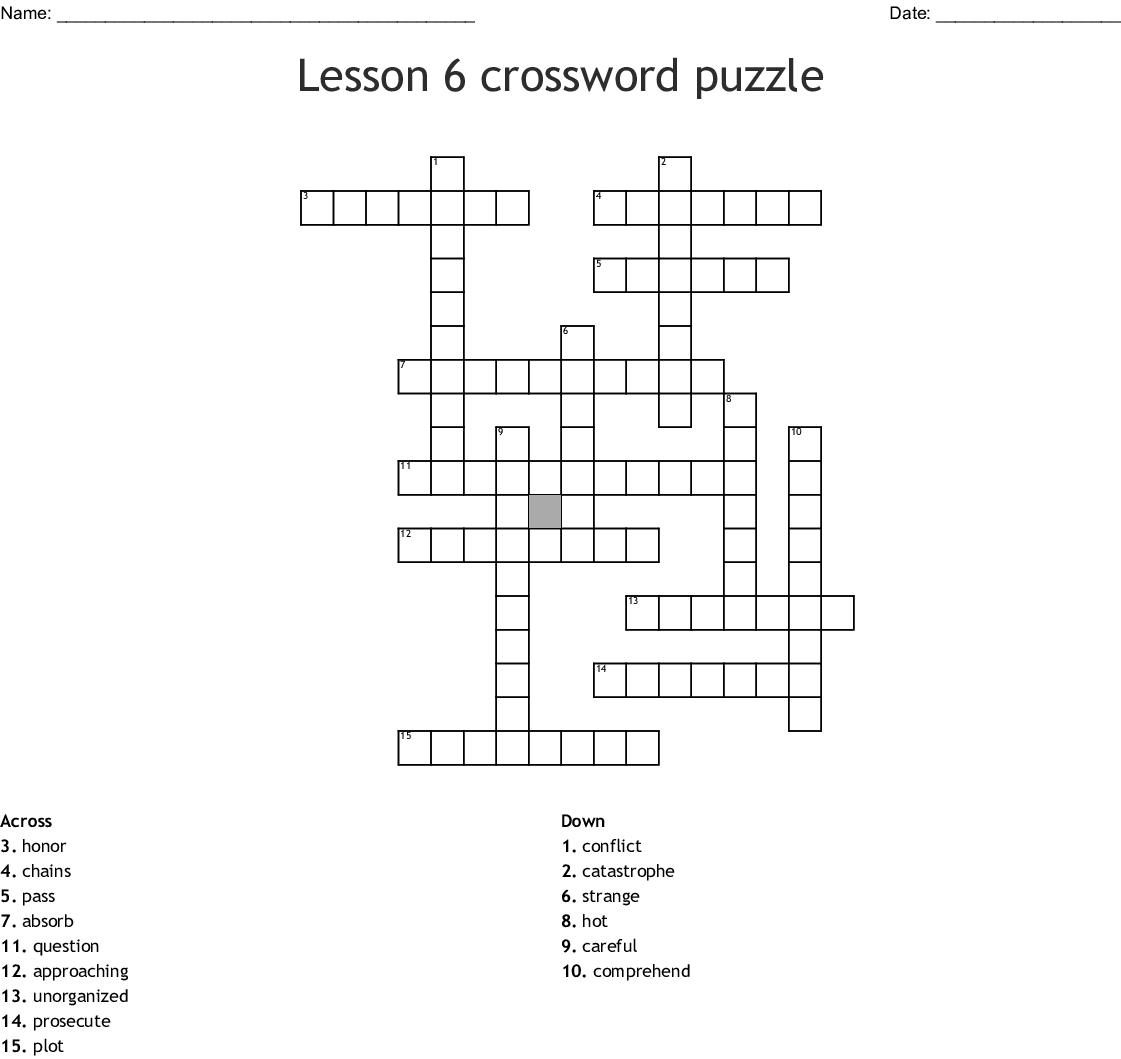 Imminent Disaster Crossword