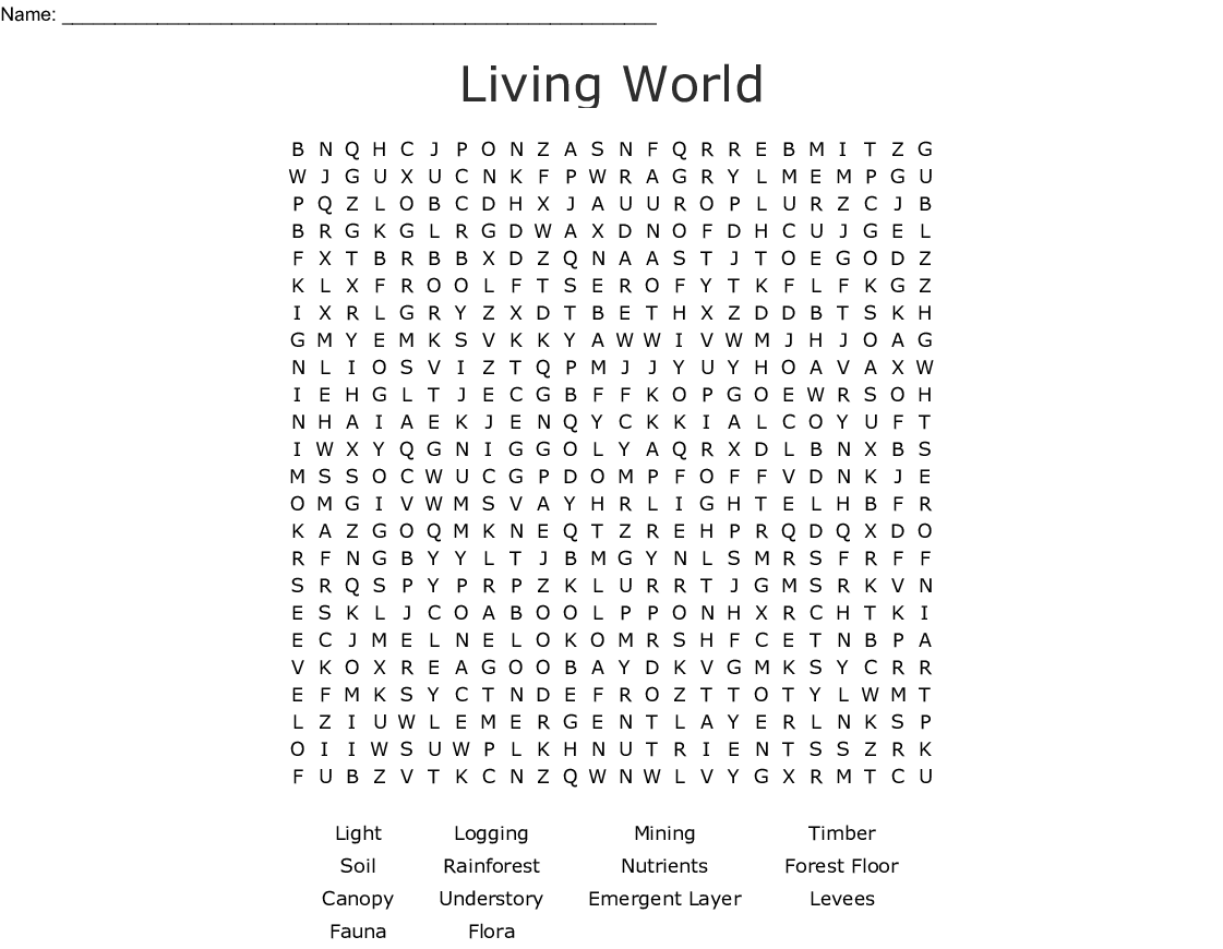 Living World Word Search