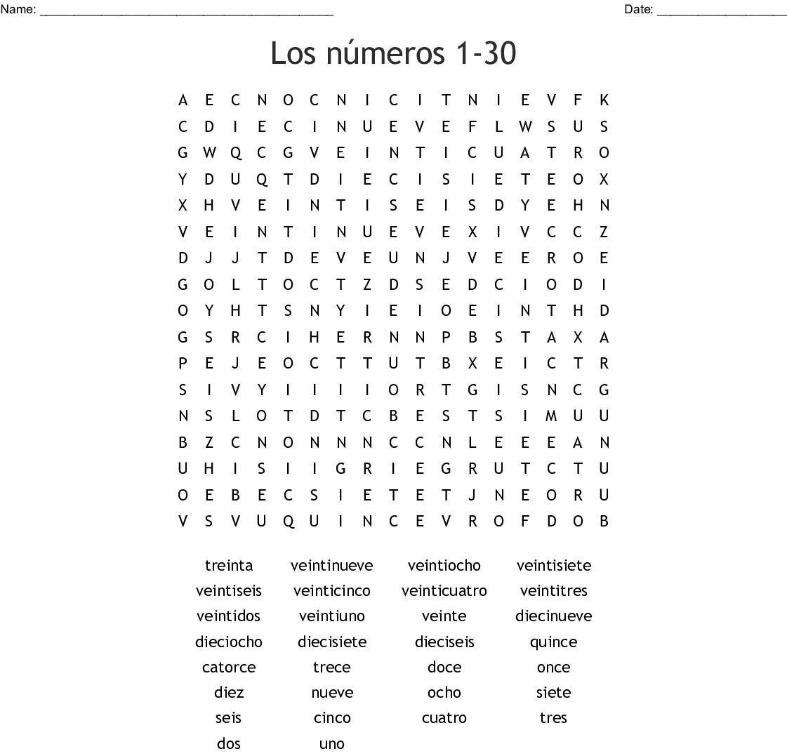 1 30 In Spanish