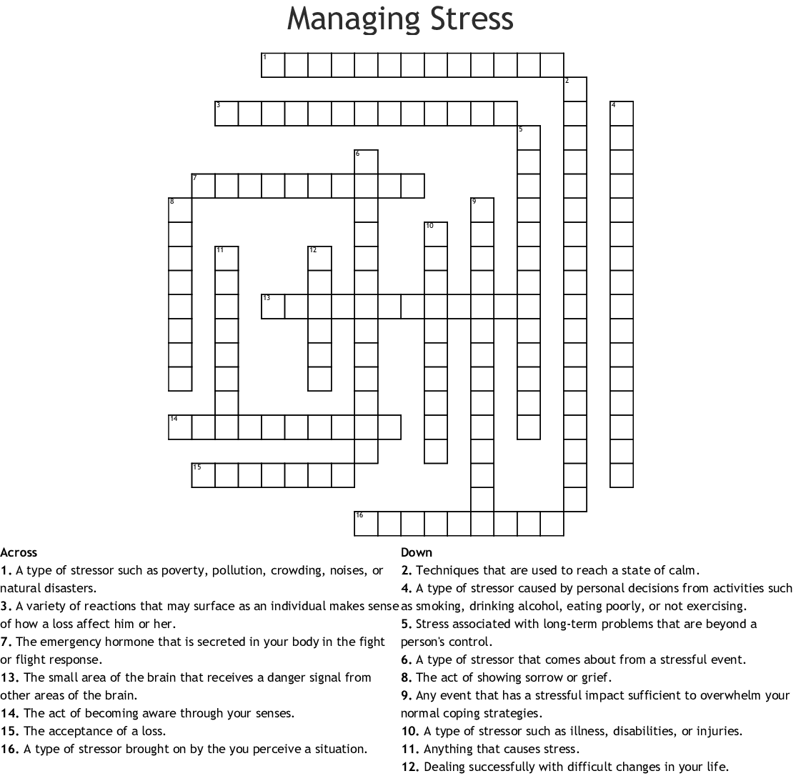 Coping Mechanisms Worksheet