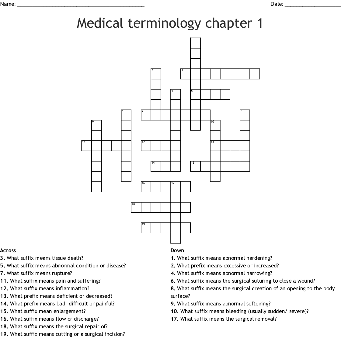 Medical Abbreviations Worksheets Printable