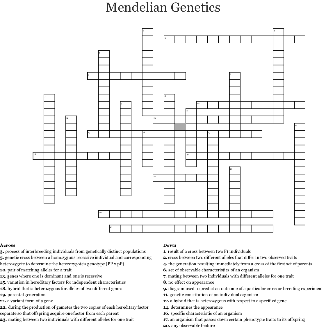 Exceptions To Mendelian Genetics Worksheet Answer Key