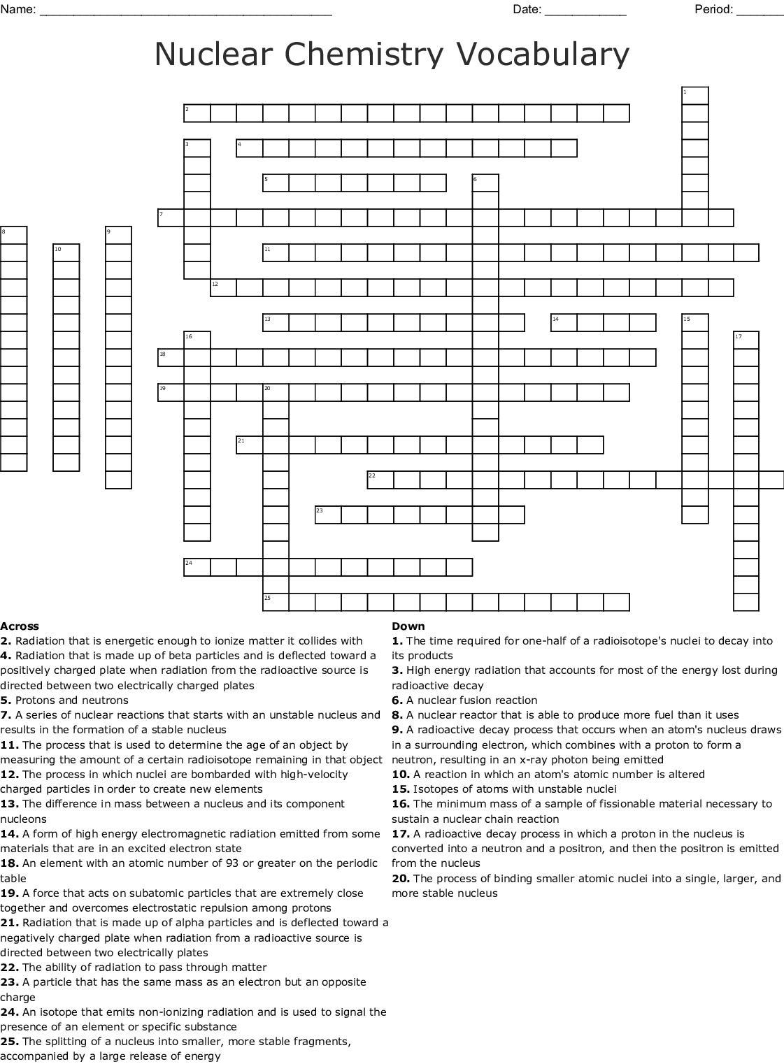 Radiation Safety Crossword
