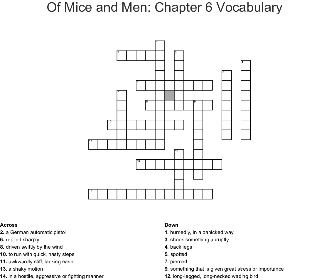 Hatchet Chapter 6 11 Vocabulary Word Search