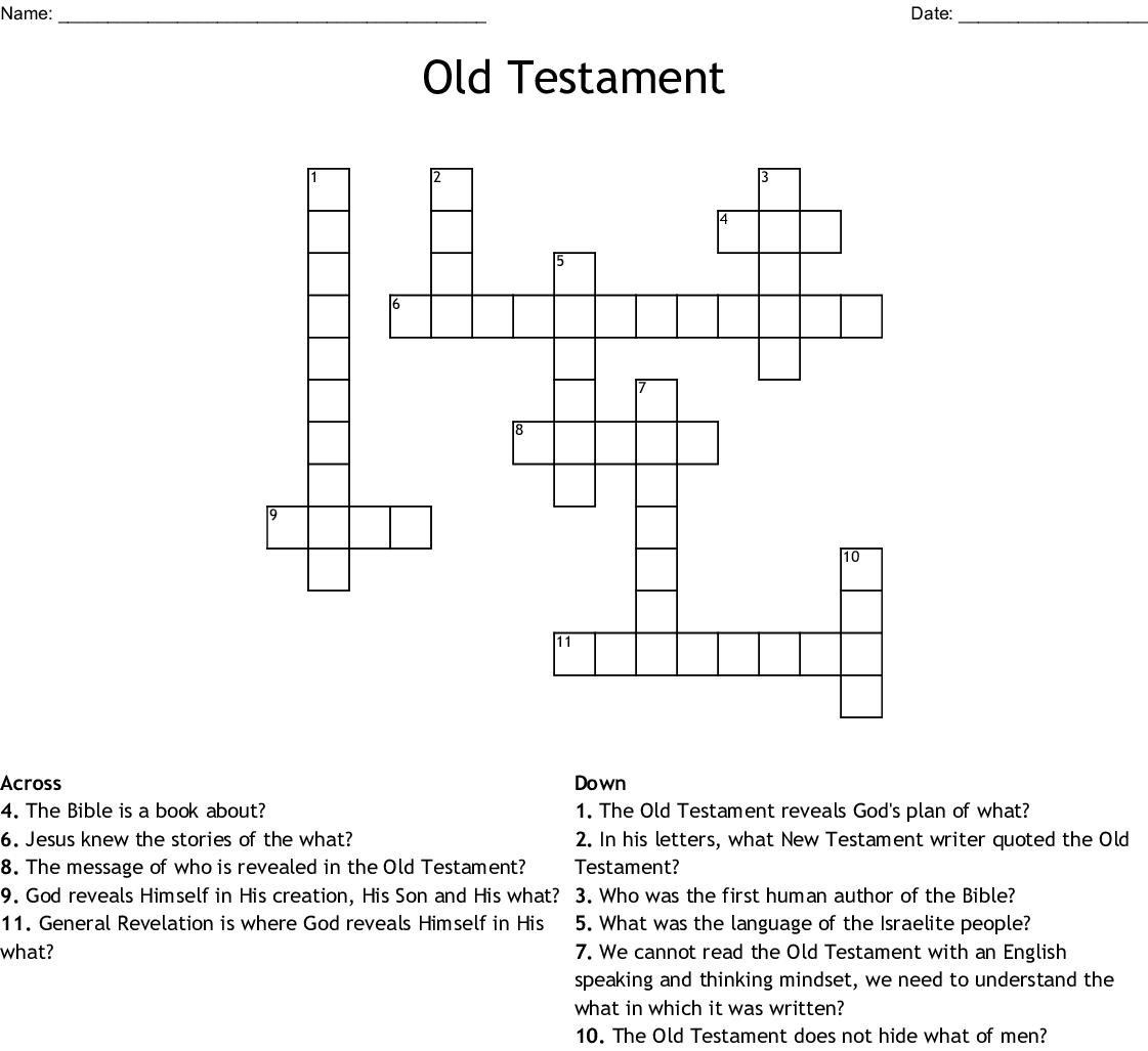 Old Testament Crossword