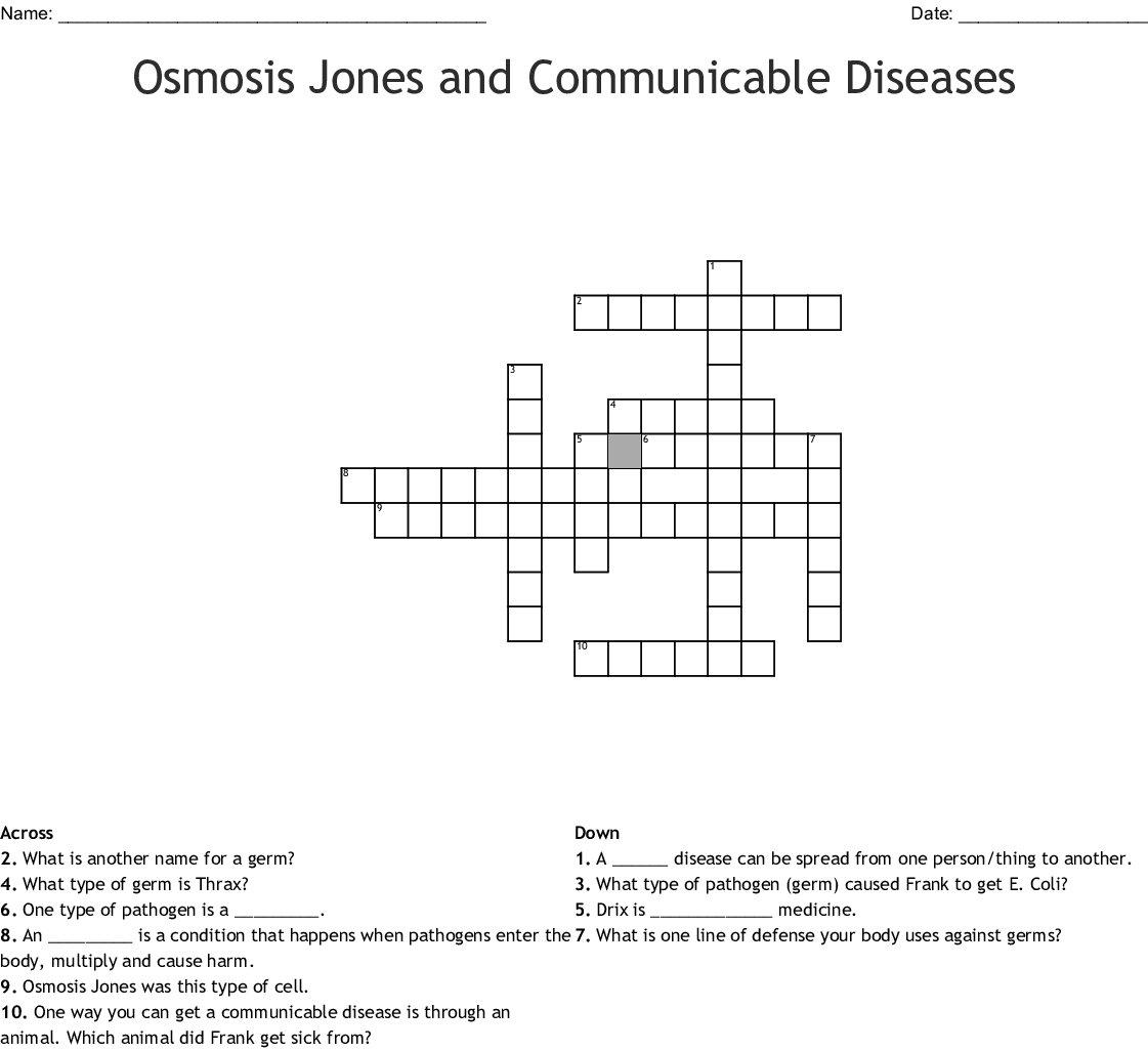 Osmosis Jones Worksheet Answer Key