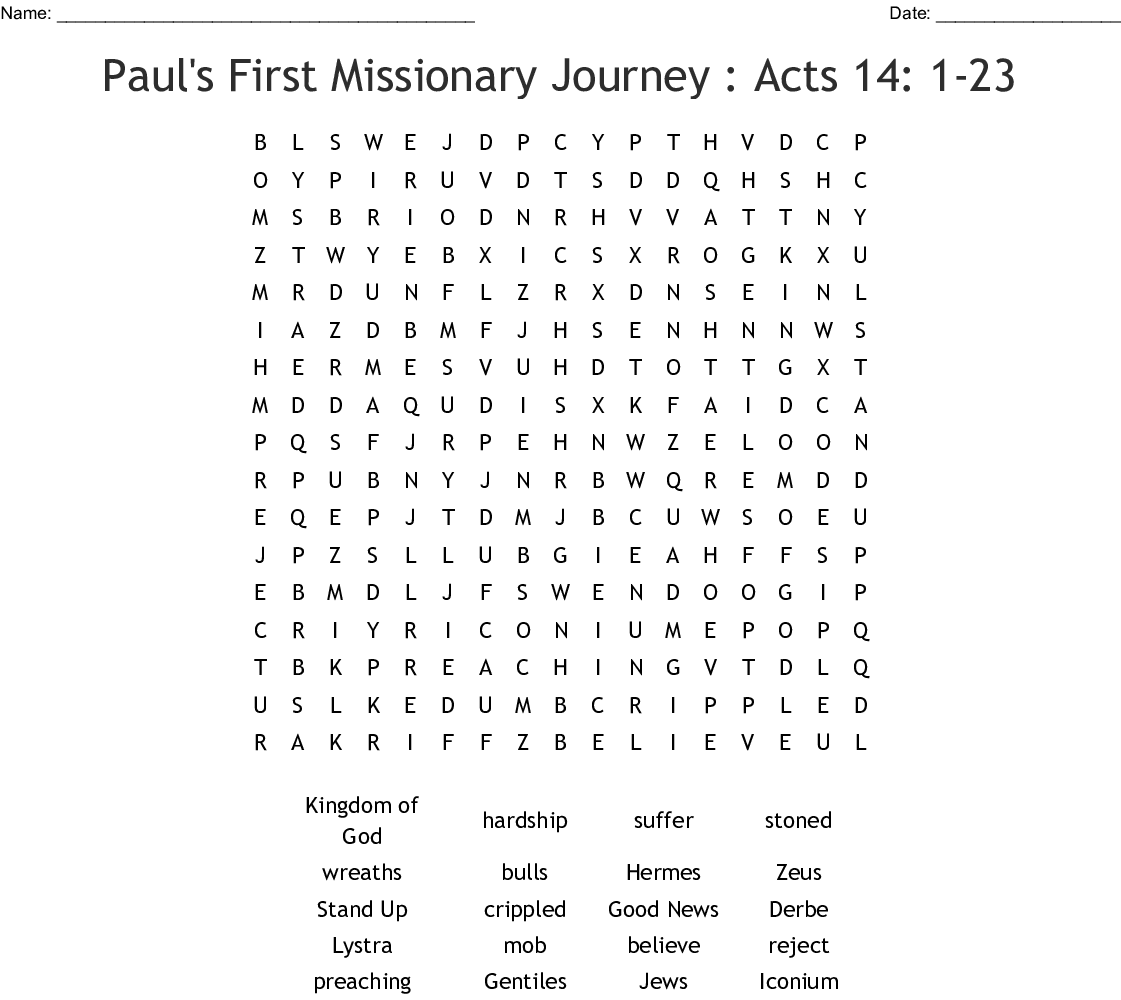 Romans 1 16 Word Search
