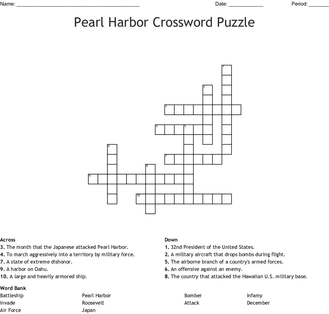 Pearl Harbor Crossword