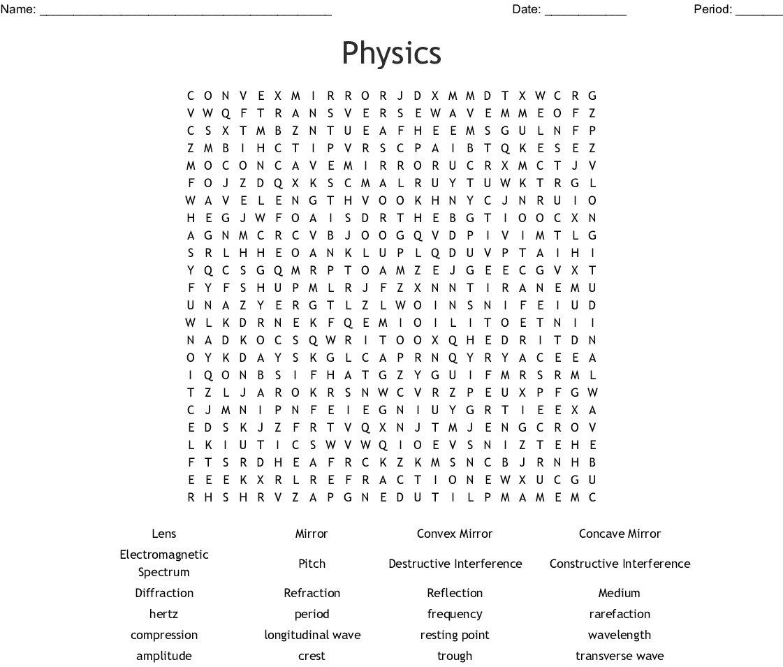 Waves Word Search