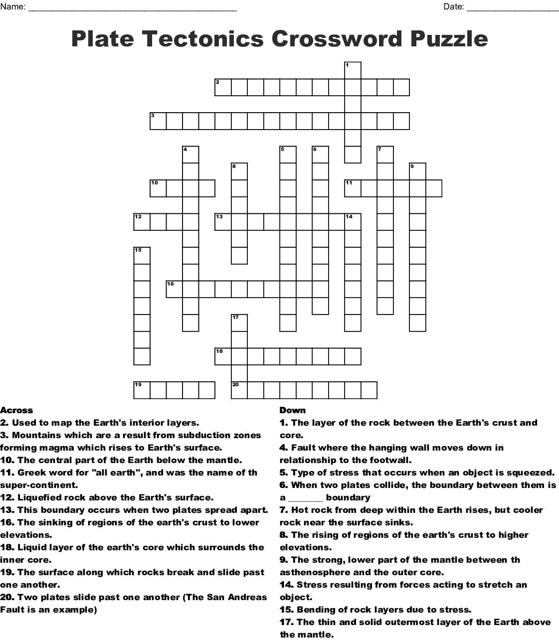 Chapter 8 Vocabulary Crossword