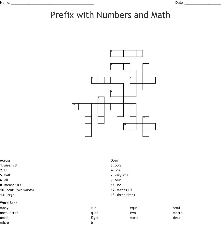 Multi Poly Prefix Worksheet