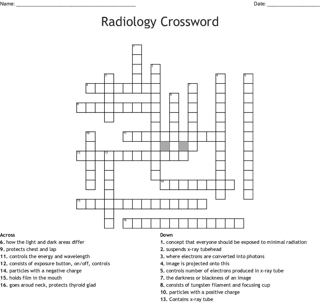 Radiology Crossword