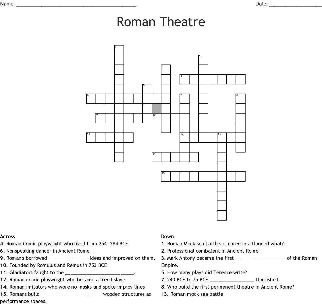 The Colloseum Crossword