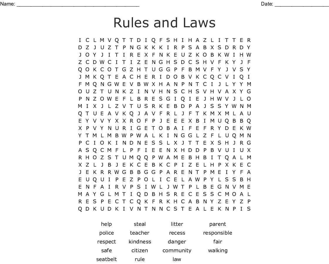 Word Search Rules