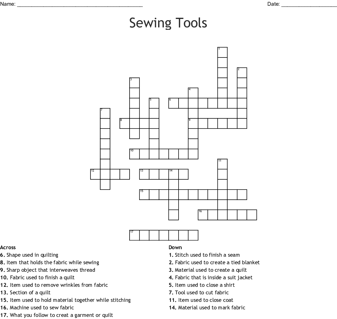 Textiles Word Search