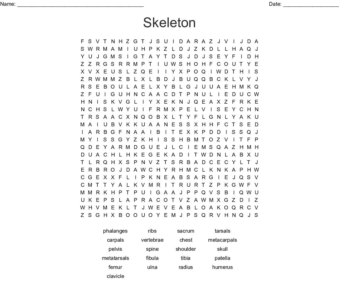 Skeleton Word Search