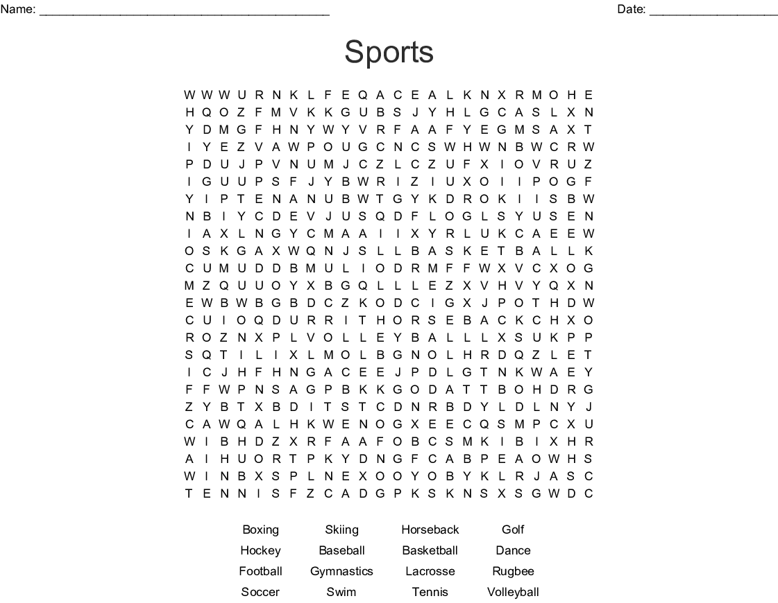 Bestseller Physical Education 13 Word Search Answers Football