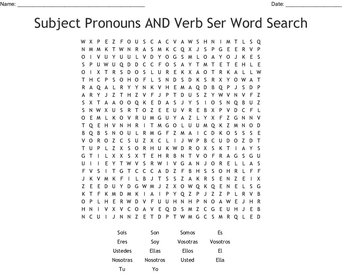 Ser Vs Estar Crossword
