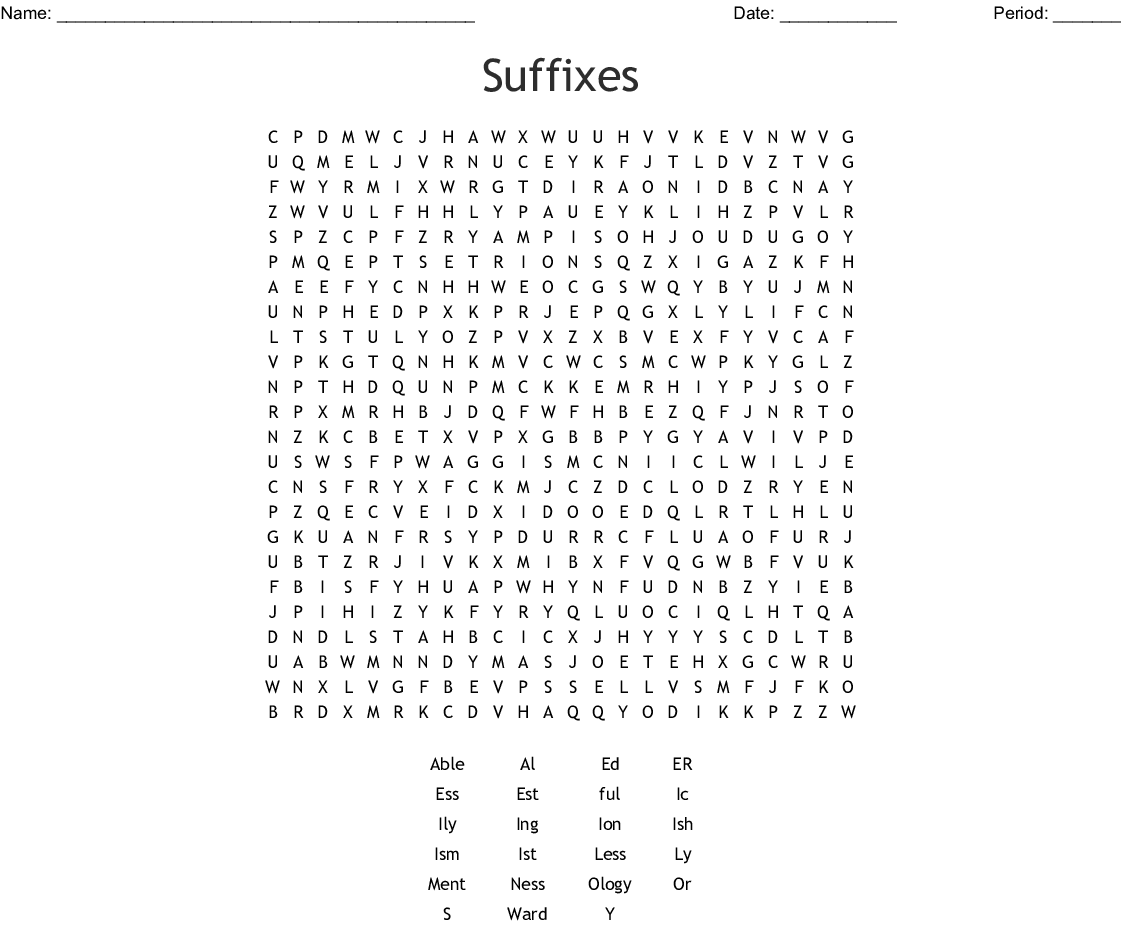 Suffix Ed Worksheet