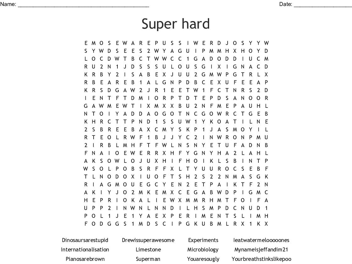 Super Hard Word Search