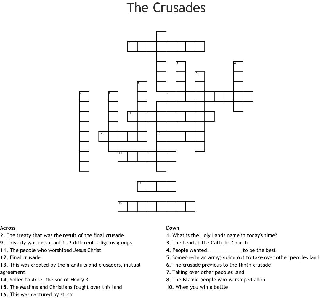 Name Of Followers Crossword