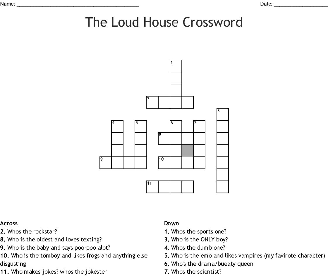The Loud House Crossword