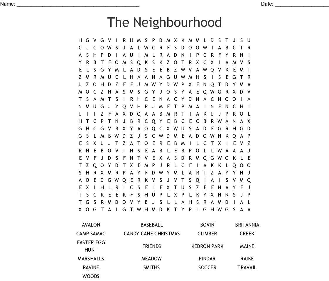 The Neighbourhood Word Search