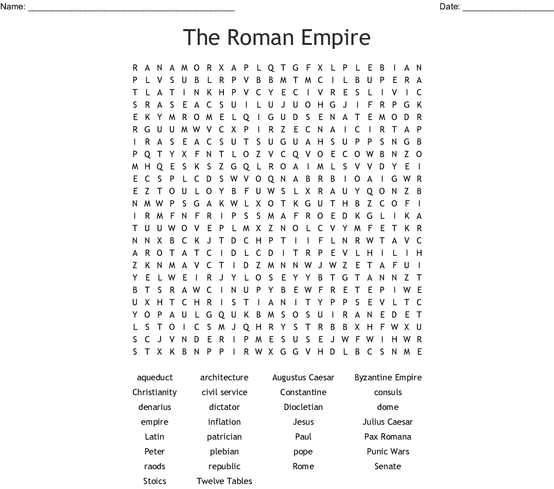 Rome Engineering An Empire Worksheet Answers